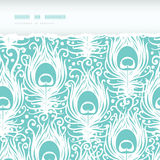 Soft peacock feathers vector horizontal torn Stock Photo