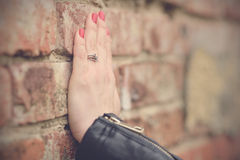 Soft photo of woman hand stock photography