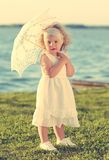 Soft photo of a young beautiful girl Stock Images