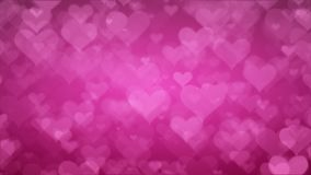 Soft Pink Background With Hearts. Valentines Day Concept.  stock video footage