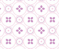 Soft pink circle-based design Stock Images