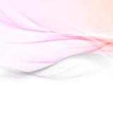 Soft pink color abstract wave layout. Bright vivid gradient soft swoosh border template. Elegant modern line background. Vector illustration Stock Images