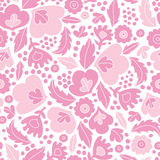 Soft pink floral silhouettes seamless pattern Royalty Free Stock Photo