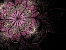 Soft pink fractal flower vector illustration
