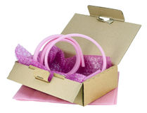 Soft pink industrial packing Royalty Free Stock Image
