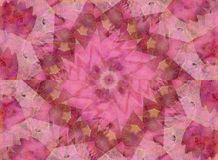 Soft Pink Kaleidoscope Pattern Royalty Free Stock Photography