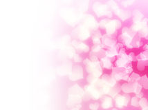 Soft pink love hearts background stock photography