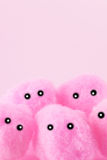 Soft pink pompoms faces Stock Photography