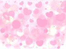 Soft Pink Romance Background For Greeting Card Valentine Day. Vector Royalty Free Stock Photography