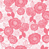 Soft pink and white florals seamless pattern Stock Photo