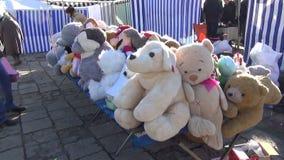 Soft plush toys market Royalty Free Stock Photo