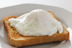 Soft poached egg Royalty Free Stock Photos