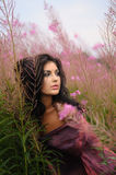 Soft Portrait Of Beauty Amongst Flowers Royalty Free Stock Photo