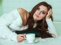Soft portrait of young woman Royalty Free Stock Photo