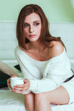 Soft portrait of young woman Royalty Free Stock Image