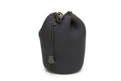 Soft Pouch. Soft black carrying pouch for fragile devices and equipment Royalty Free Stock Photography
