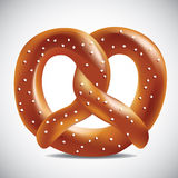 Soft pretzel on a white background Stock Photos