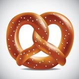 Soft pretzel on a white background. Soft pretzel. EPS 10 vector Stock Photos