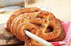 Soft pretzels Royalty Free Stock Photos