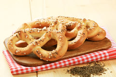 Soft pretzels Stock Photo