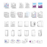 Soft printing icons Royalty Free Stock Images