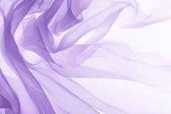 Soft purple chiffon texture. Soft purple chiffon with curve and wave Royalty Free Stock Photography
