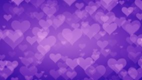 Soft Purple Hearts On Graduated Background. Valentines Day Concept stock illustration