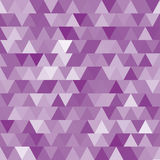 Soft purple vector seamless pattern with triangles. Stock Photography