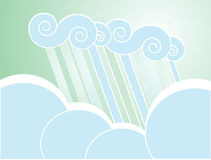 Soft Rain Cloud Background Royalty Free Stock Images