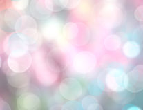 Soft rainbow color lights blurred background. Stock Image