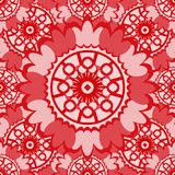 Soft red abstract seamless pattern with round ornamental element Stock Photography