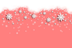 Soft red Christmas snowflake Stock Photo