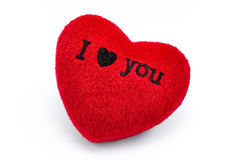 Soft red heart Stock Photography
