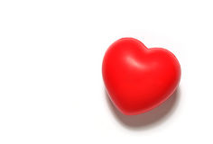 Soft red heart Stock Photos
