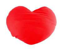 Soft red heart pillow Stock Image