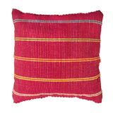 Soft red pillow. Soft red decorative pillow isolated on white background stock images