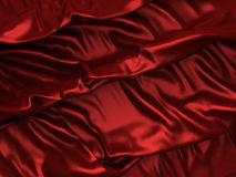 Soft red silk waves cloth background Royalty Free Stock Images