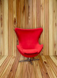 Soft Red Stylish Chair stock images