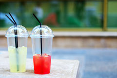 Soft refreshing drinks Royalty Free Stock Photos