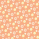 Soft repeated pattern, abstract background. Soft repeated pattern with yellow small circles on pink background, abstract background and design vector illustration
