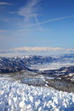 Soft rime and Mt. Iide in Japan Royalty Free Stock Photos