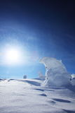 Soft rime, Mt.Zao in Japan Stock Images