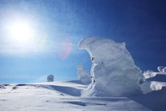 Soft rime, Mt.Zao in Japan Stock Photography