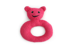 Soft ring bear. Soft sponge and fabric ring with cute bear face Royalty Free Stock Image