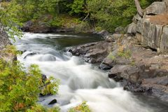 Soft River Rapids Cascade Royalty Free Stock Photo