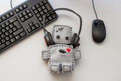 Soft Robot Toy Call Center Stock Photos