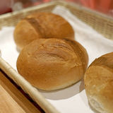 Soft roll bread for breakfast meal Royalty Free Stock Image