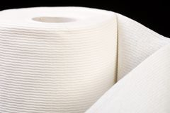 Soft roll of toilet paper Royalty Free Stock Photo