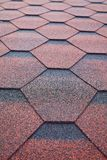 Soft roof, roof tiles. Flexible shingles, Roof tiling texture. stock images