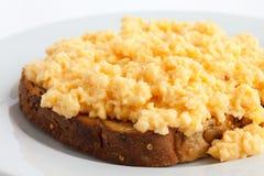 Soft scrambled eggs Stock Image